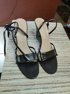 Michael Kors Strappy/Gladiator Leather Tie Wedge Made In Italy Size 6