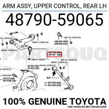 4879059065 Genuine Toyota ARM ASSY, UPPER CONTROL, REAR LH 48790-59065