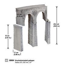 NOCH 58664 H0 Bruchsteinviadukt gebogen R1       #54505