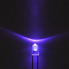 100pcs F3 3mm Round Ultra Violet LED UV Light 395-400nm Purple Lamp