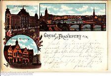 Gruss aus Frankfurt am Main AK 1897 Mehrbild Litho Post Römer Hessen 1506017*