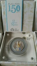 2016 Peter Rabbit Argento a Prova di colore 50p Coin Beatrix Potter 150 T Anniversario