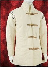 White Color Gambeson chainmail armour With Padded Collar Gift chianmail Suit