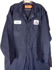 American Airlines Mechanic Coverall Jumpsuit Size 58 R 5X Red Kap Navy NOS