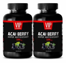 Antioxidant and immunity - PURE ACAI BERRY 1200MG - weight loss for men - 2 Bot