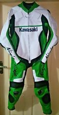 Kawasaki Custom Made Motorbike Street Racing Leather 1 and 2 Piece Suit