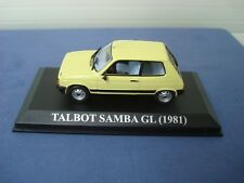 MODELLINO METALLO-TALBOT SAMBA GL DEL 1981-SCALA 1/43