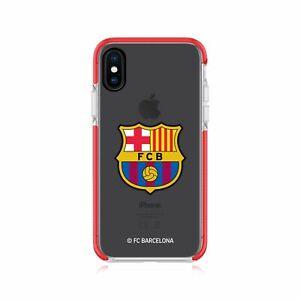 OFFICIAL FC BARCELONA LOGO RED SHOCKPROOF BUMPER CASE FOR APPLE iPHONE PHONES