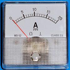 Dc Analog Ammeter 0 20 Amps Dc Ms52 Type