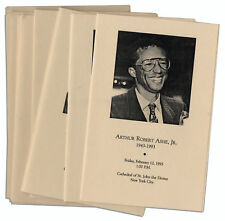 Lot of 10 Programs From the Arthur Ashe Funeral