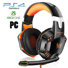 Pro Gamer PS4 Headset for PlayStation 4 Xbox One & PC Computer Orange Headphones