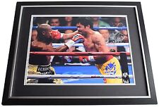 Manny Pacquiao SIGNED Framed Photo Autograph Huge display Boxing Sport AFTAL COA