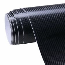 NEW 4D BLACK Carbon Fibre Vinyl Wrap Sheet Film Sticker 30cm x 1.52m