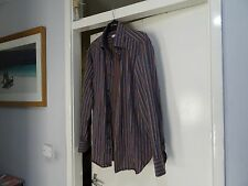 MENS CANALI LONG SLEEVE MULTI SHIRT SIZE 16.5/42, GREAT CONDITION