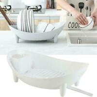 Kitchen Dish Drainer Dry Rack Plate Bowl Cutlery Sink Holder Tray Dryer Z3W1