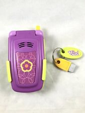 New listing Polly Pocket Pretend Talking Cell Phone With Holster Belt Clip