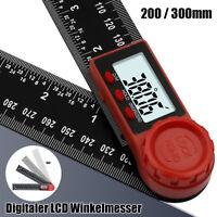 Digitaler LCD Winkelmesser Gradmesser 360° Winkel Messen aus Edelstahl