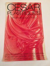 AFICHE CESAR PLASTIQUES CNAC 1970