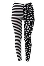 Tattoo Damen Leggings Fashion Leggins Hose Stars & Stripes Einheitsgrösse