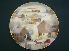 CHRISTMAS ON THE FARM Collector Plate BETSY BATES World Book 1981 WOODPECKER