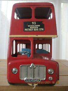VINTAGE TRIANG LARGE PRESSED STEEL ROUTEMASTER BUS LOT 1