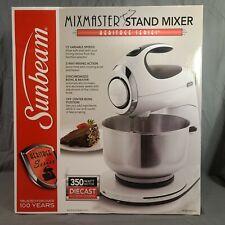 Sunbeam Mixmaster Heritage Series Stand Mixer WHITE FPSBSM2101 NEW OPEN BOX