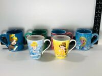 Disney Princesses Belle, Cinderella, Ariel, Anna, & Elsa Coffee Mugs Cups