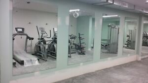 Gym Dance Studio Cupboards Mounted Make Up Walls Custom Acrylic mirror sheet 4mm