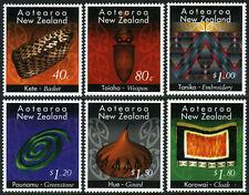 New Zealand 1329-1334, MI 1481-1486, MNH.Maori Crafts.Hong Kong stamp EXPO,1996