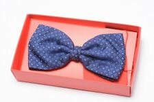 Altea Papillon Pre-Tied Bow Tie Small Print Silk 100% Navy