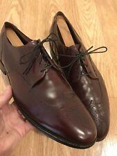 Allen Edmonds Men's Kingswood Medallion Wing Tip Dress Shoes Burgundy USA Sz 11B