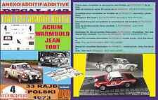 ANEXO DECAL 1/43 FIAT 124 ABARTH RALLYE A.WARMBOLD/TODT R.POLSKI 1973 (01)