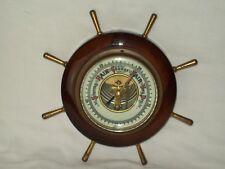 New listing Vintage ~ Nautical Steering Wheel ~ Wood & Brass Barometer ~ Made in Germany