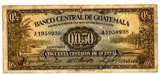 Guatemala ... P-13 ... 1/2 Quetzal ... 19-2-1941 ... *F+*.