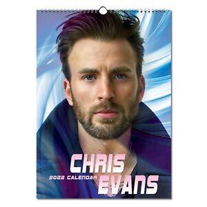 Chris Evans 2022 Wall Calendar NEW A3 Poster Size 12 Months Pretty Man