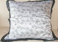 """New Silver and Black Pillow Sham Cover 26"""" x 26"""" Set"""