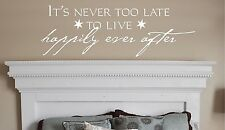 IT'S NEVER Vinyl Wall decal words stickers lettering home decor