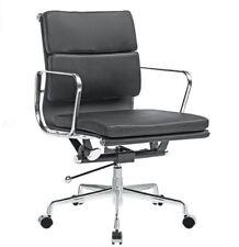 Eames Soft Pad Management Office Chair Replica, Premium Italian Leather Black