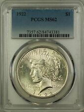 1922 Silver Peace Dollar $1 Coin PCGS MS-62 (16G)