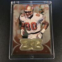 JERRY RICE 1998 UPPER DECK SPX FINITE #165 RADIANCE GOLD FOIL EMBOSSED /1000 NFL