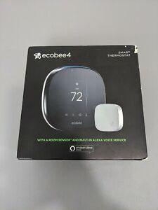 Ecobee ecobee4 Alexa Enabled Smart Thermostat w/ Sensor EB-STATE4-01