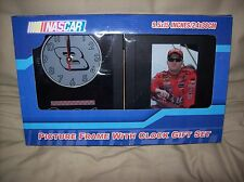 NASCAR PICTURE FRAME W/CLOCK GIFT SET/ DALE EARNHARDT JR. PHOTO- NEW IN BOX