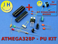 ATMEGA328P-PU ARDUINO kompatibel KIT+5V Spannungsstabilisator + Signalgeber#A126