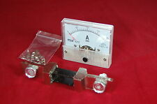 DC 200A Analog Ammeter Panel AMP Current Meter 85C1 0-200A DC with Shunt