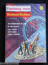 Vintage Magazine of Fantasy & Science Fiction-August 1966, Isaac Asimov (SF)