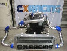 CX FM 24x11x3 Intercooler Kit + BOV For Nissan S13 S14 240SX RB20 RB25DET Black