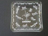 VINTAGE BRITISH CHEERIO ''CHEERS'' GLASS NOVELTY DISH / ENGLAND