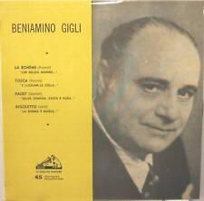 BENIAMINO GIGLI raro ep Italy perfetto