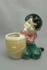 Pottery Planter, Young Boy Day Dreaming, Unknown Age / Maker