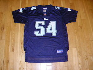 REEBOK TED TEDY BRUSCHI BABY BLUE GIRLS NEW ENGLAND PATRIOTS NFL YOUTH JERSEY XL
